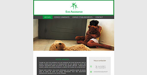 site Vitrine - Eve Assistance