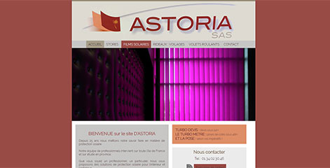 site Vitrine - Astoria