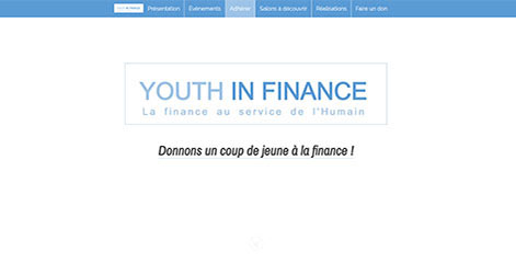site Vitrine - Youth in Finance