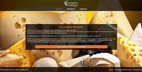 site Vitrine - Le Comptoir Fromager