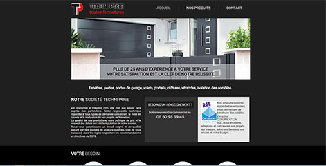 site Vitrine - Techni Pose