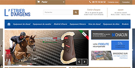 site e-commerce - L'Etrier d'Argens