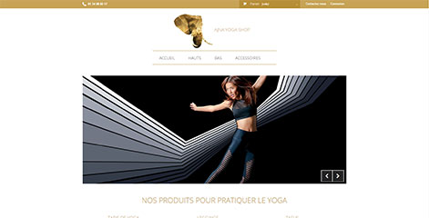 site e-commerce - Ajna Yoga