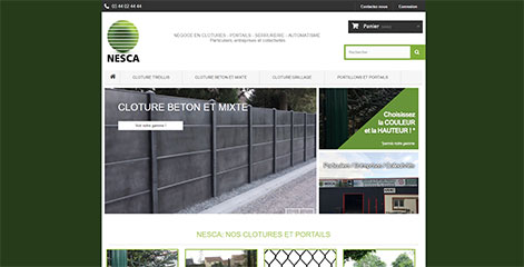 site e-commerce - Nesca