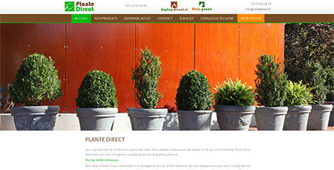 site Administrable - Plante Direct