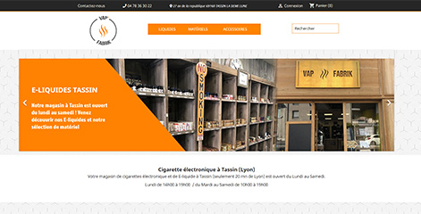site e-commerce - Vap Fabrik