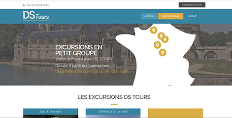 site vitrine - DS TOURS