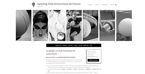 site Administrable - Sportive Club Universitaire de France