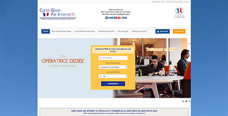 site e-commerce - Carte Grise