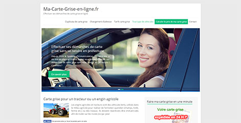 site Administrable  - Carte Grise