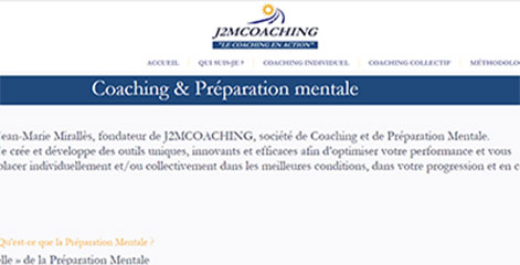 site Vitrine - Coaching individuel et collectif