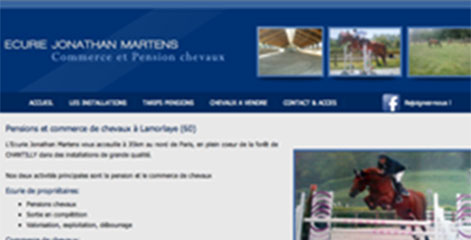 site Administrable  - Commerce chevaux Martens