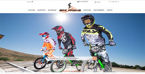 site e-commerce - BMX Racing