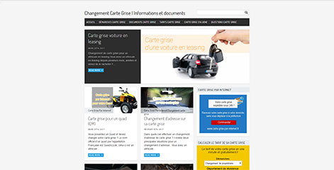 site Administrable - Changement carte grise