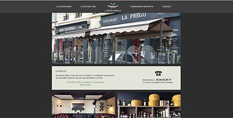 site Administrable - Restaurant La Prego Chantilly
